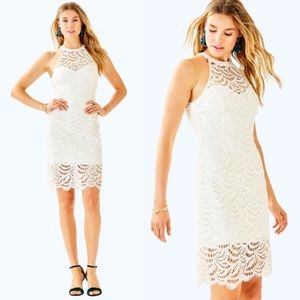 NEW Lilly Pulitzer Kenna White Lace Dress 4 S